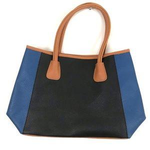 Neiman Marcus color block purse handbag tote